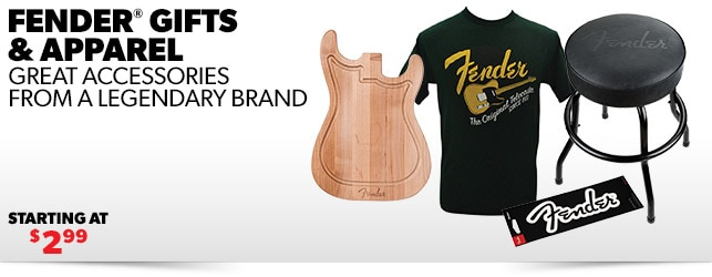 Fender Gifts Apparel