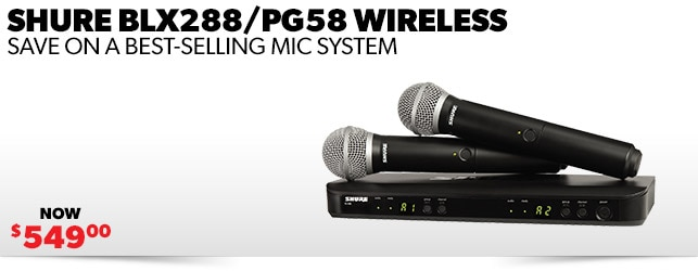 Shure BLX 288 PG58 Wireless