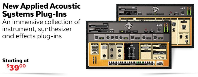 New applied Acoustic systems Plugins