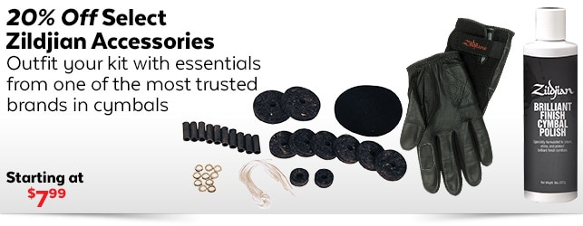 20% off Select Zildjian Accessories